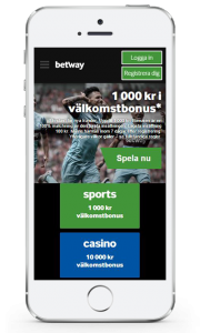 betway mobil casino