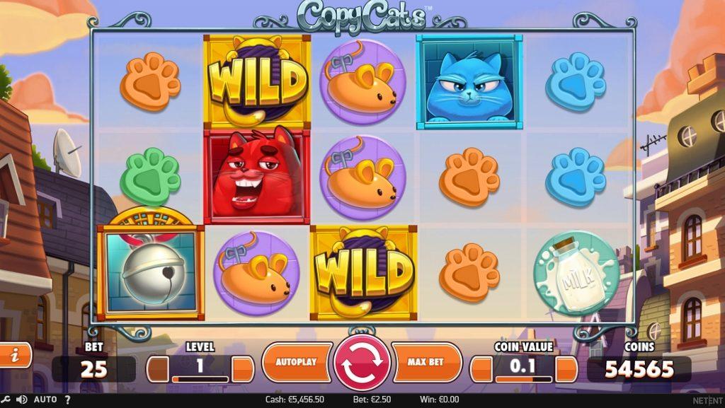 NetEnt lanserar sin nya spelautomat Copy Cats