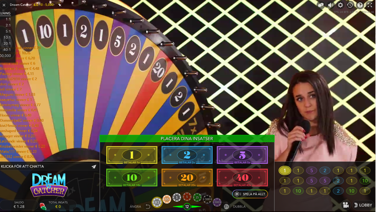 Nytt live casino spel – Lyckohjulet Dream Catcher