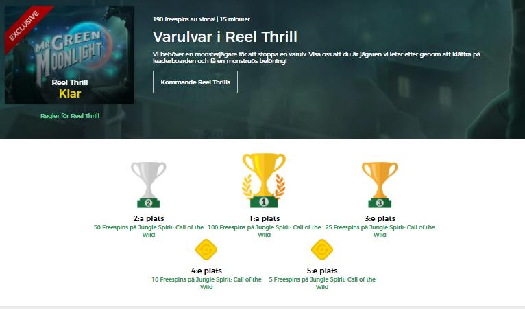 reel thrill vinnare