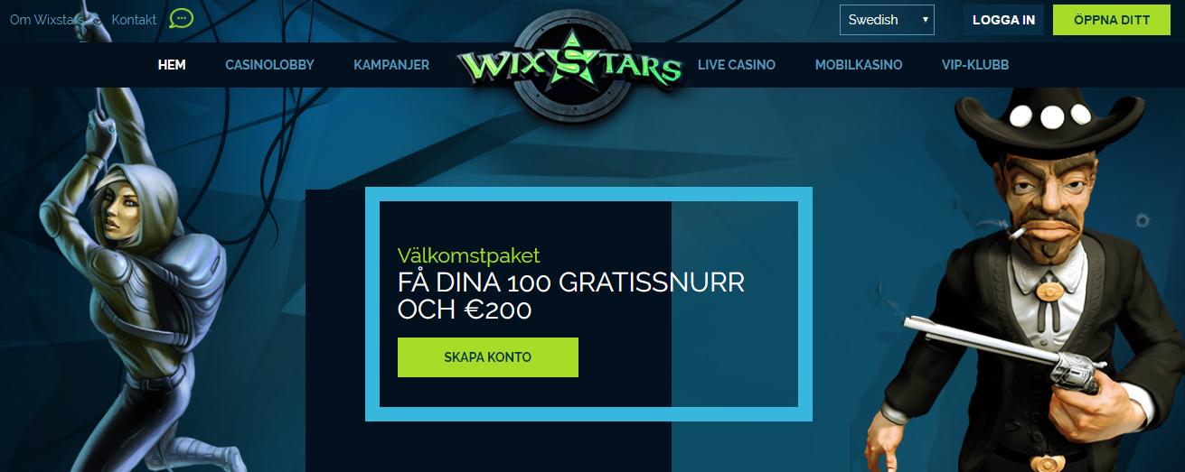 Prova nya casinot Wixstars med exklusiva free spins utan insättning