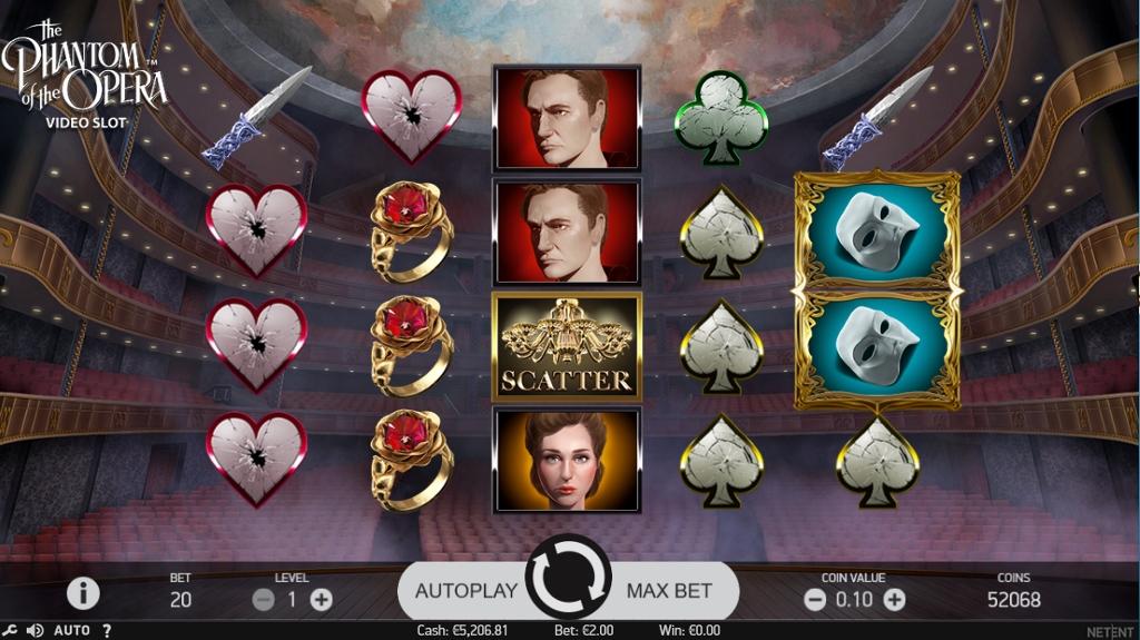 phantom of the opera netent slot