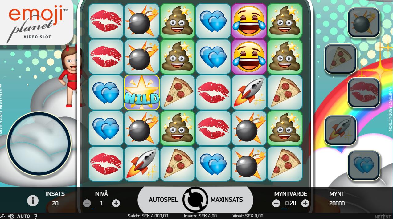 Spela NetEnt`s nya spel EmojiPlanet hos MrGreen redan nu
