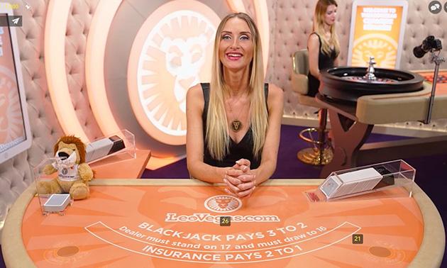 Få 500kr gratis i LeoVegas live casino